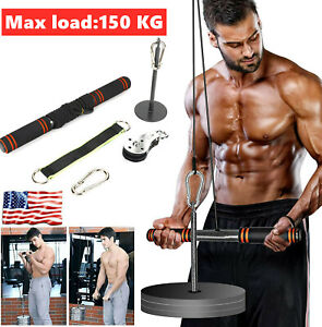 Fitness Lift Pulley System Weight Pulley System with Loading Pin Cable Machine