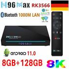 8+128GB H96 MAX Android 11.0 TV Box 8K RK3566 3D Media 5G WiFi 1000M LAN DE V0A4