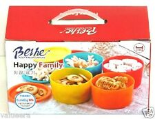 Colorful Plastic Food Container Set 4 Pieces Set With Airtight Lid