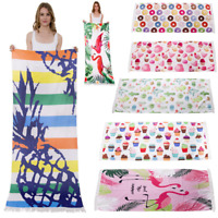 Beach Towel Rectangle Cotton Bath Towel Beach Mat Large Picnic Blanket Yoga Mat