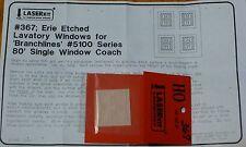 American Model Builders, Inc HO #367 Lavatory Windows for: Branchline (Erie)