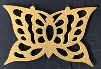 Brass Butterfly Tabletop Trivet Footed Vtg Mid Century Kitchen Decor Korea