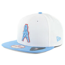 "New Era 950 ""Historic Baycik"" Houston Oilers Snapback Hat (White/Blue) NFL Cap"
