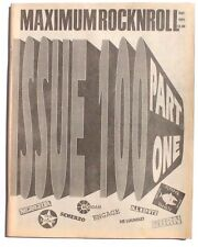 Vtg September 1991 Maximum Rock N Roll Punk Rock Music Zine Magazine No. 100