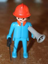 Playmobil personnage vintage pompier porte voix talkie walkie 3403 ref jj