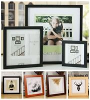 """Multi-size Room Decor Wooden Picture Photo Wall Frame Square 5""""/6""""/7""""/8""""/10"""" 1PC"""