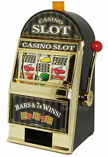 Battery Slot Machine 1 Arm Bandit Money Saving Machine Box Flashing Light