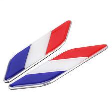 2X Car Body France Flag Emblem French Flag Sticker Decal Universal Fit Citroen