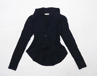 Miss Selfridge Womens Size 8 Cotton Black Blazer (Regular)