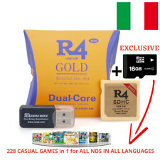 R4 GOLD-PRO iSDHC 2021-DS/3DS/2DS/NDSll, Revolution Cartridge - Micro SD & Games