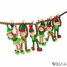 6 PLUSH LONG ARM ELVES girl and boys ELF CHRISTMAS GIFTS DECORATIONS HANGINGS