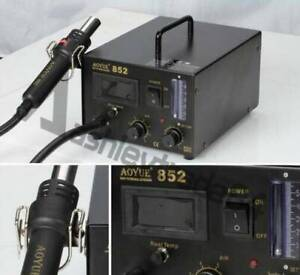 AOYUE 852 Desoldering Station SMD Rework Station with Hot Air Gun 110V