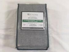 The Season Collection Standard Flannel Pillowcase Set - Heather Gray