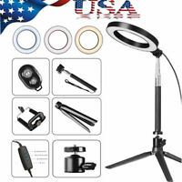 """5500K 8"""" Dimmable LED Ring Light Kit with Stand for Makeup Phone Camera Selfie"""
