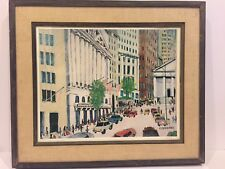 "Bill Olendorf My Stock Exchange Hand  Colored Lithograph  Ltd Ed 36/500  26""x23"""