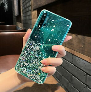 For Huawei P40 PRO P30 P Smart 2020 Bling Glitter Rubber Ultra Slim Case Cover