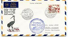 1970 Lufthansa First Flight Kobenhavn Osaka LH 650 Polar Antarctic Cover