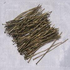 100 TIGES CLOUS TÊTE PLATE 18 mm en métal couleur argenté perle,fimo-ttp208