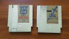 The Legend of Zelda & The Adventure of Link (Nintendo NES) GOLD CARTRIDGES ONLY