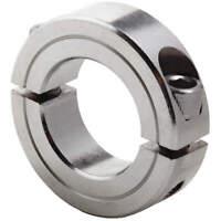 DAYTON 1L715 Shaft Collar,Clamp,2Pc,3/8 In,SS