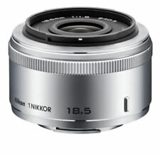 Genuine Nikon 1 NIKKOR 18.5mm f/1.8 Lens for Nikon 1 Series - Silver