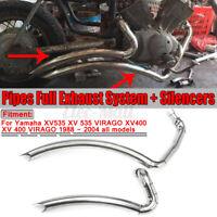 Exhaust Muffler Pipe Full System Silencer For Yamaha Virago XV 535 XV400 1988-04