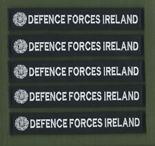 Irish Naval Service X 5 Strips / Tags Name Defence Forces Ireland Free Shipping