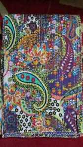 Indian Cotton Paisley Print Kantha Quilt Twin/Queen Bedding Bedspread Coverlet