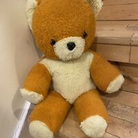 Vintage Chad Valley Pre Loved 1960s Orange Cream Teddy Bear 18 Inches