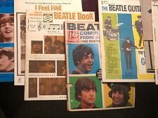 Vintage lot of Beatles magazines & books