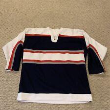 VTG CCM Striped Blank Hockey Jersey Youth Boys L/XL
