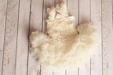 Ivory Vintage flower girl tutu dress baby tutu dress Wedding photograph Pageant