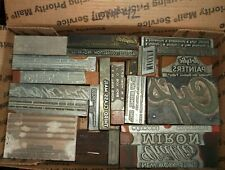 No42 Lot Of 24 Vintage Cuts Printing Block Letterpress Zinc Lead Wood