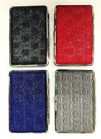 SUPER KING Size Cigarette Case  Leather Effect with Sparkle for 12-14 Cigarettes