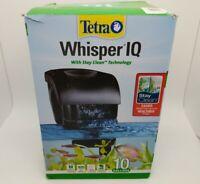 Tetra Whisper IQ Aquarium Power Filter for Tanks 10 Gallons. Open Box