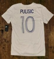 Nike Chelsea FC Christian Pulisic #10 Player Tee T-Shirt White Mens Medium NEW !