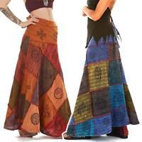 Hippy Patchwork Skirt, Long Boho Skirt, Hippie Wrap Skirt, Festival Clothing