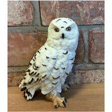 Naturecraft Small Snowy Owl Ornament Figurine WB61474