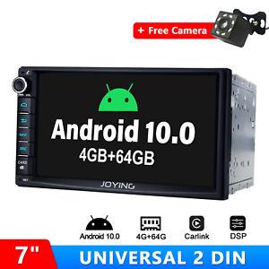 "JOYING Universal 7"" Android 10.0 Double DIN Car Stereo  Free AHD Reverse Camera"