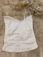 B& X white Camisole Top sleepwear nightwear size m/L