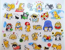 Japanese Shiba Inu stickers! Kawaii stickers, summer festival, cute beach party