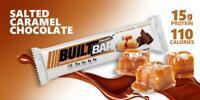 BUILT BAR Protein & Energy Bars - Box of 18 Bars SALTED CARAMEL CHOCOLATE CREME