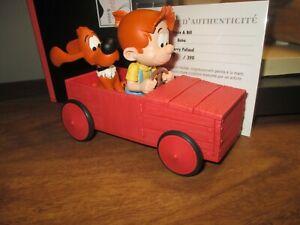 Boule & Bill dans le véhicule-Sculpture résine-399 exempl.-Boite et certificat