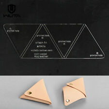 Wuta Triangle Coin Purse Leather template Acrylic Pattern DIY tool  897