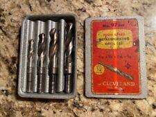 Vintage Cleveland Twist Drill No 97 High Speed Metalworking Drill Bit Set With Box