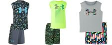 New Under Armour Little Boys 2-Pc. Logo Tank & Shorts Set MSRP $36.00