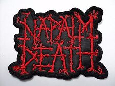 napalm death red     embroidered patch