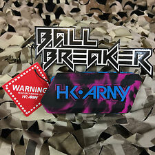 New Hk Army Ball Breaker 2.0 Barrel Cover Sock Plug Condom - Vivid (Black/Pink)