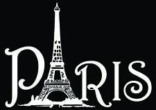 """""""PARIS"""" window decals, 4.5""""x 6"""" white vinyl decals"""