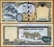 Nepal, 500 Rupees, 2012, Pick 68-New, UNC   Tigers, Rastra Bank